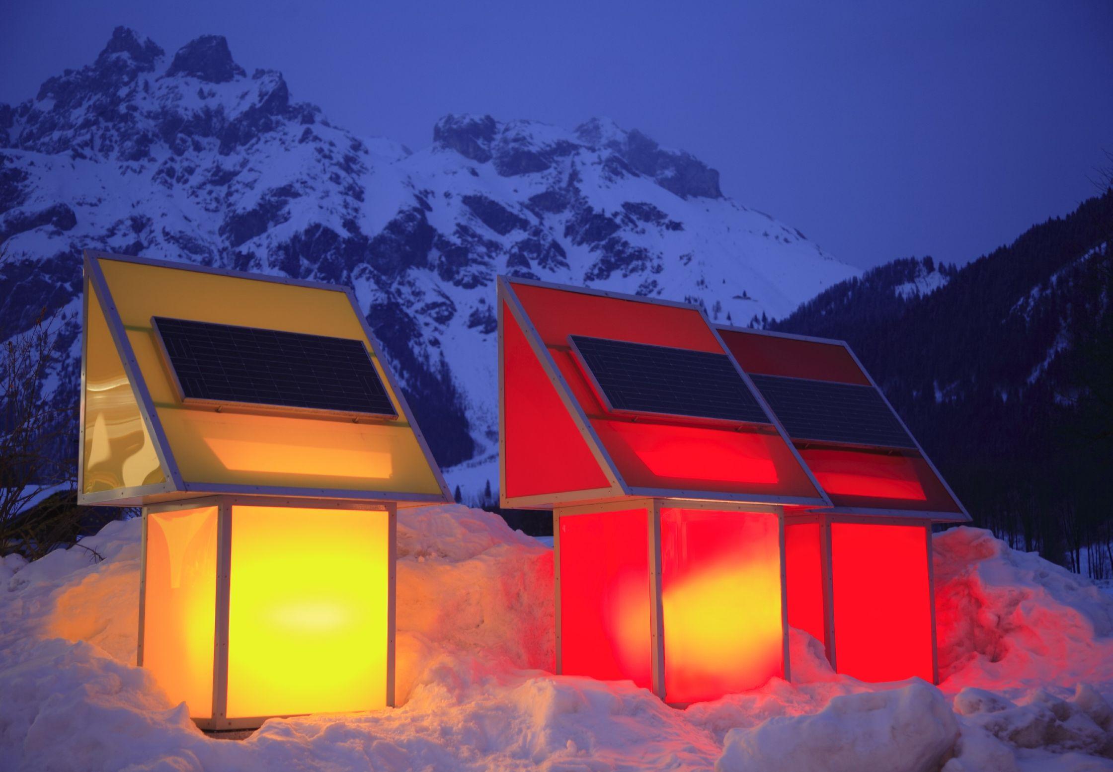 Solartankstelle vorm Tennengebirge-klein